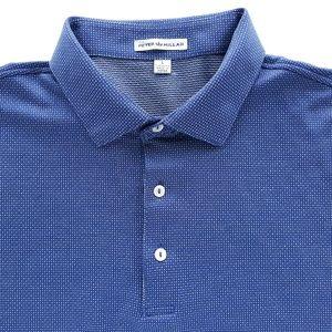 Peter Millar Mens Polo Shirt Size L Navy Blue
